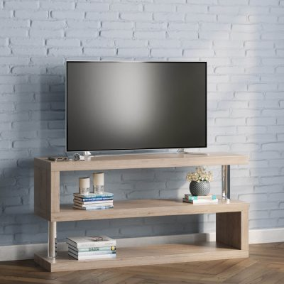 miami s shaped tv stand in ash