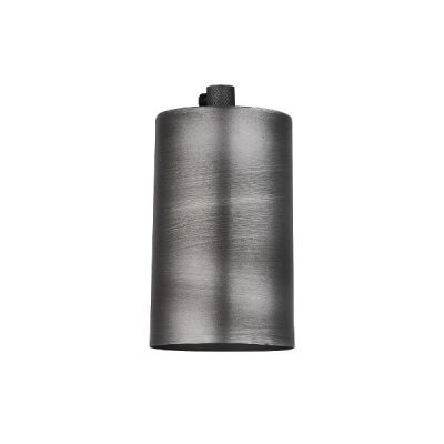 sleek edison large bulb holder in pewter