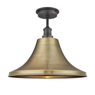 "brooklyn giant bell flush mount 20"" ceiling light in pewter"