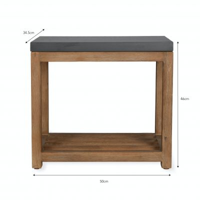 Chilson Wooden Side Table With Shelf Dimensions
