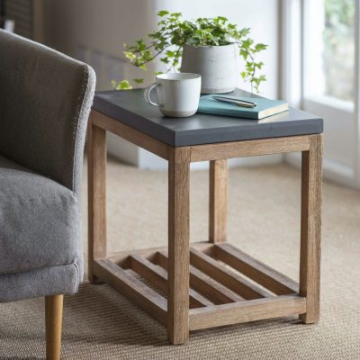 Chilson Wooden Side Table With Shelf
