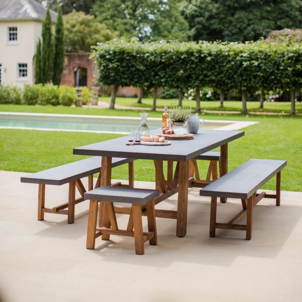 Chilson Table and Bench Set Large