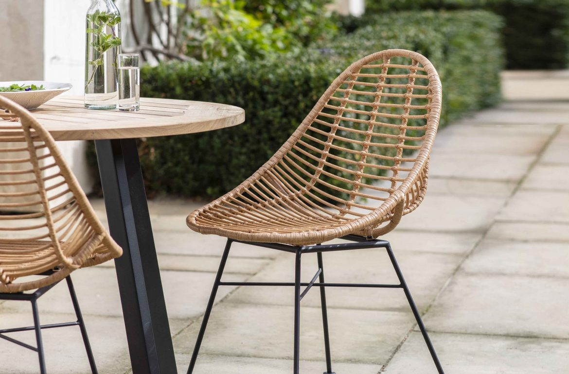 Pair of Hampstead Bamboo Scoop Chairs