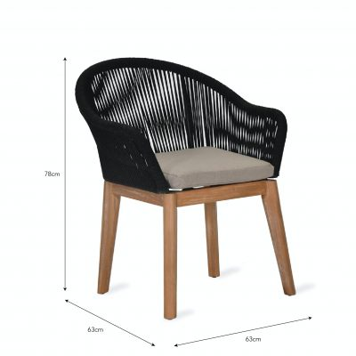 luccombe dinning chair dimensions