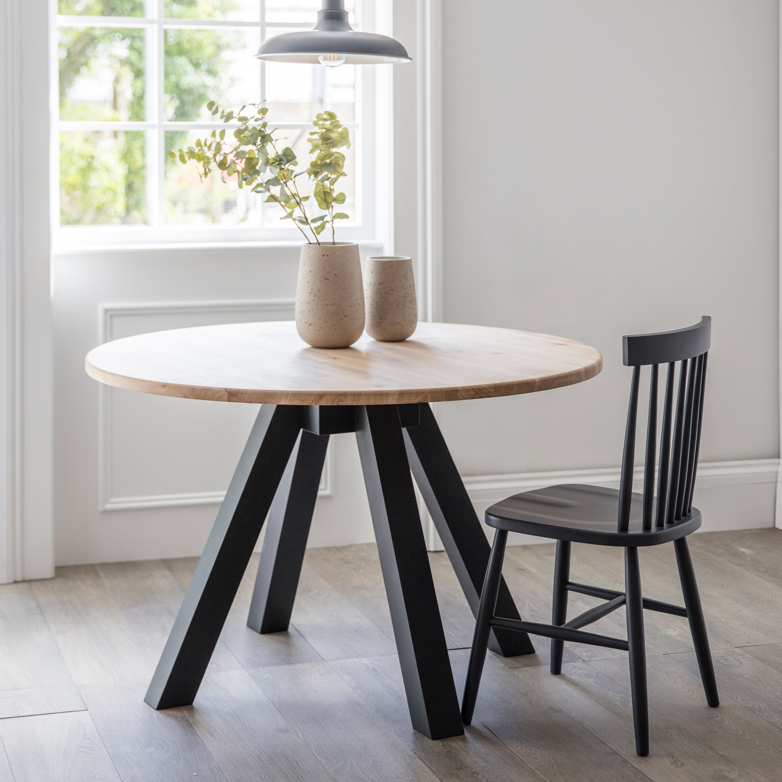 Round Raw Oak Dining Table Groovy Home Free Uk Delivery