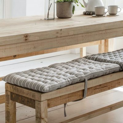 Stripe Bench Seat Pad Small